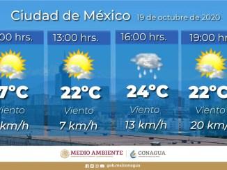 El SMN pronostica lluvias para Campeche, Chiapas, Quintana Roo, Tabasco, Veracruz y Yucatán