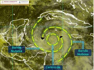 Depresión tropical 28 provoca fuertes lluvias en Yucatán, Campeche y Quintana Roo