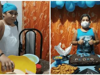 Niño de 10 años celebró su cumpleaños sólo, pues su familia tiene Covid-19