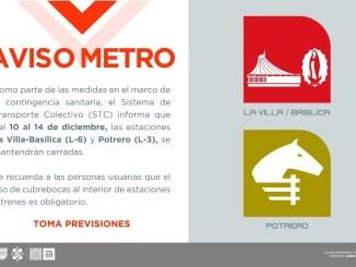 Estaciones del Metro cercanas a la Basílica de Guadalupe cerrarán en diciembre