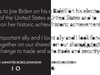 Internautas descubren un error en la felicitación de Boris Johnson a Joe Biden