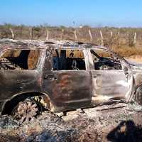 19 cuerpos fueron calcinados en una camioneta, en Tamaulipas