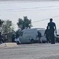 Se registra balacera entre policías y dulceros en Tecámac, Edomex #VIDEO