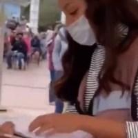 "Apodan #LadyProle a Servidora de la Nación tras negar vacunas a ""ricos"" #VIDEO"