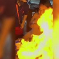 Mesero quema el rostro de una turista en un bar de Cancún #VIDEO