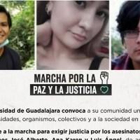 Universidad de Guadalajara llama a marcha por el asesinato de los hermanos González Moreno