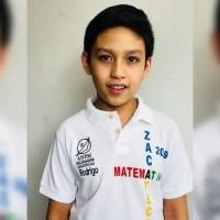 Pequeño de 11 años gana medalla de oro en Competencia internacional de Matemáticas