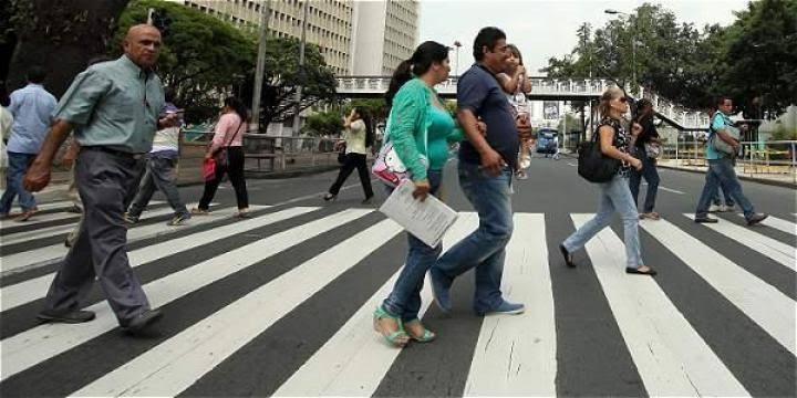Estudio revela que cada año 270 mil peatones pierden la vida
