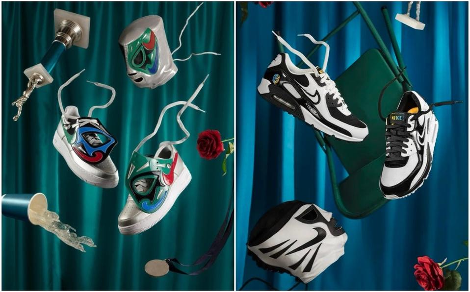 Nike lanza colección de tenis inspirados en la lucha libre mexicana