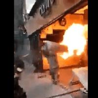 Reconocen a bombero de CDMX por cargar tanque en llamas y evitar explosión #VIDEO