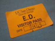 My sticker pass to enter