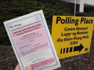 Taking my voter pamphlet to Pooh's Polling Place
