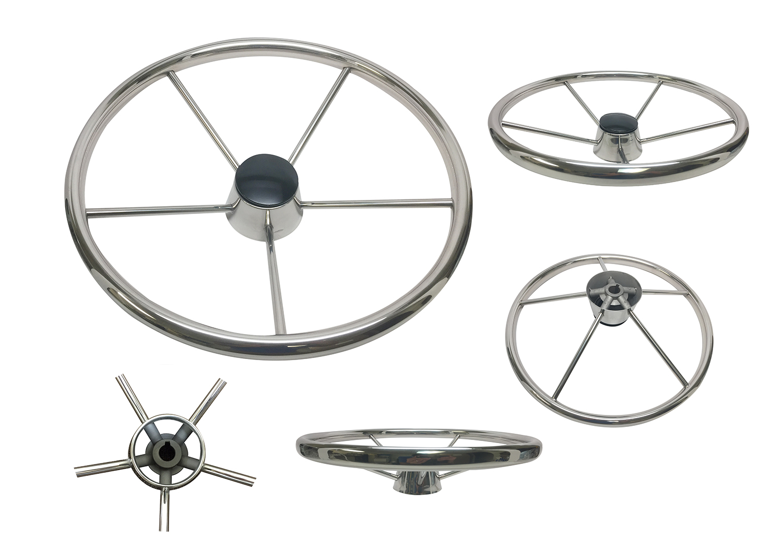stainless steel boat steering wheel 13 1 2 five spoke