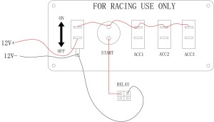 Pactrade Marine Racing Car Ignition Switch Panel Engine