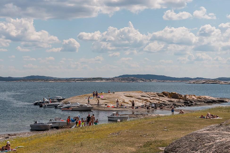 Välbesökt av många båtar under sommartid