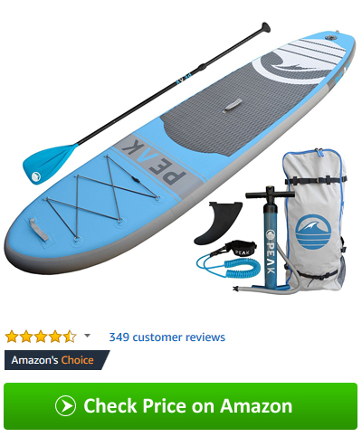 Best inflatable SUP 2018 - PEAK stand up paddleboard package