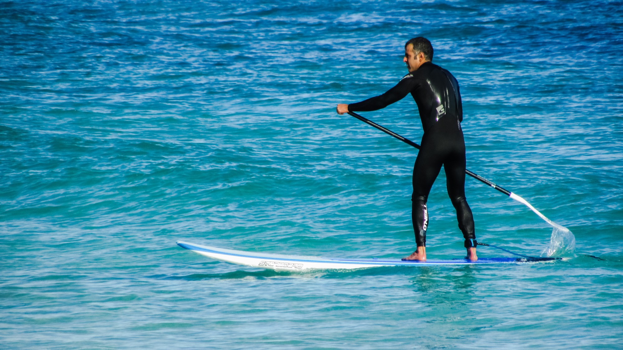 get fit paddle boarding