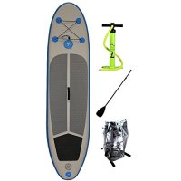 "DDM Inflatable Paddle Board SUP - Complete with Paddle, Backpack, and Pump - Size 10'6""x30""x6"""