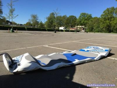 Aquaglide Cascade 11' standup paddleboard - easy to inflate deflate