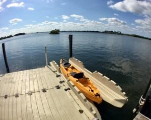 Kayak on Ez Dock kayak launch