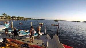 Paddle Board Lesson on the Paddles By The Sea Riverside Location