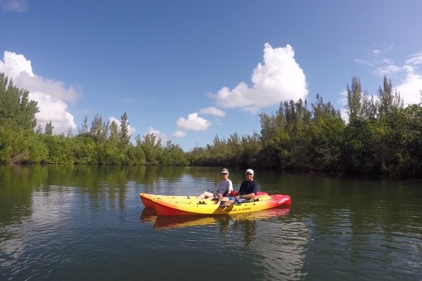 Kayak Tours and rentals on the Indian River Lagoon in Vero Beach Florida