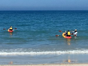 Launching rental kayaks from the Kimpton Vero Beach Hotel