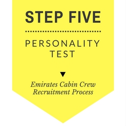 Emirates cabin crew recruitment step by step process - Five - Personality Test