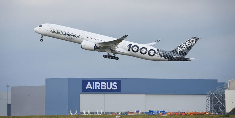 The Airbus A35-1000 taking off from Toulouse on its test 'Early Long Flight'. Photo Credit: Airbus