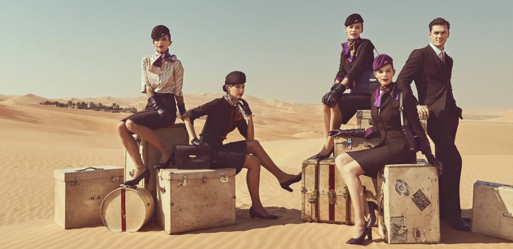 The new Etihad Airways uniform and livery - part of its Flying Reimagined campaign