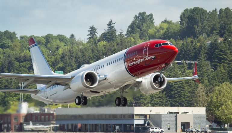 Norwegian Gets It's First Boeing 737MAX for Low-Cost Transatlantic Flights