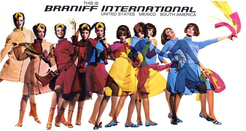 The Braniff International 'Air Strip' uniform.