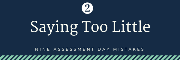 Nine cabin crew assessment day mistakes - 2. Saying too little
