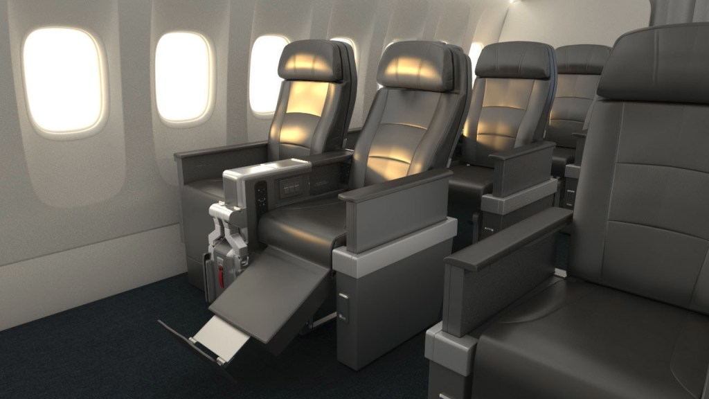 American Airlines became the first U.S. carrier to offer a full Premium Economy product. Photo Credit: American Airlines
