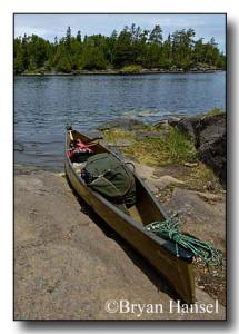 Bell Magic Kevlar canoe on Bald Eagle Lake in the BWCA.