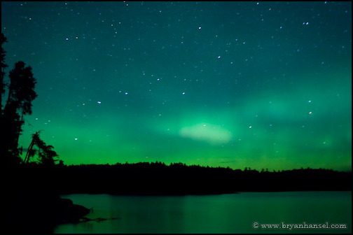 Northern lights in the Boundary Waters (BWCA)