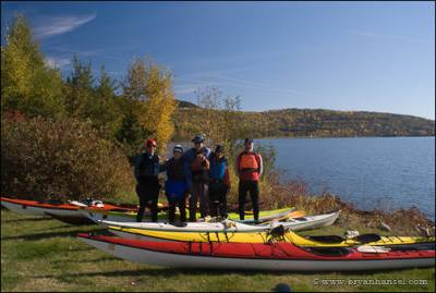 Kayakers at Grand Portage National Monument.