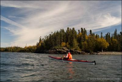 Kayaking past Susie Island.