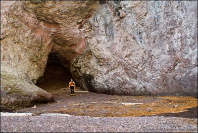 Large cave at the Manitou River.