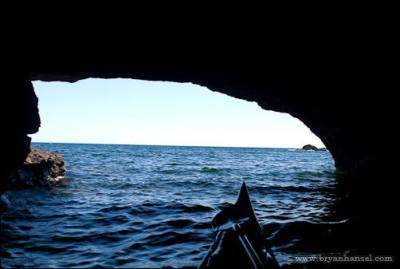 Sea cave near the Manitou River.