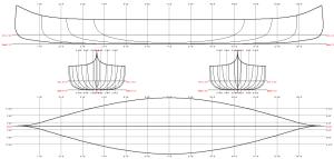 1865 St. Francis Canoe Linesplan
