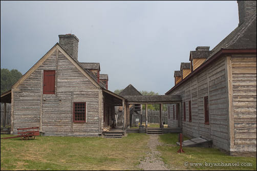 The kitchen and mainhall at the stockade in Grand Portage