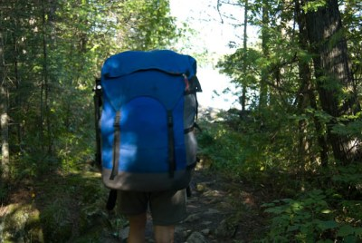 Cooke Custome Sewing Pioneer Pack on a portage
