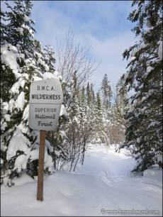 The sign marking the border of the BWCA.