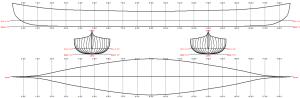 Malecite Racing Canoe Lines plan