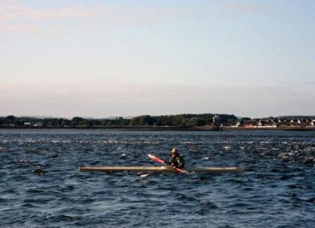 Bill Samson paddling his kayak.