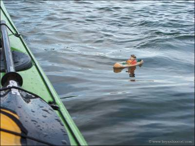 A small wooden canoe like Paddle-to-the-Sea and my kayak.