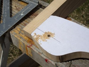 Drilled hole for a yoke pad