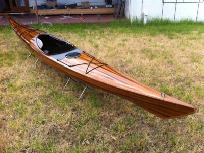 wood sea kayak