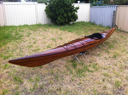 wood sea kayak